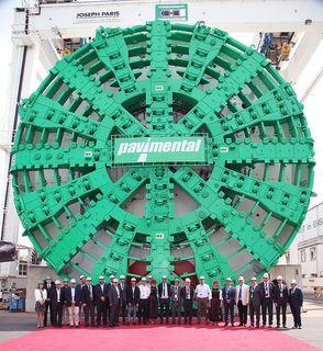 Imposante 15,87 Meter misst der Durchmesser der Tunnelbohrmaschine für den Santa Lucia Tunnel.