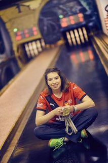Bianca Zimmermann holte bei der Weltmeisterschaft 2015 im Sportkegeln im U18-Tandem Gold sowie Bronze im Team.