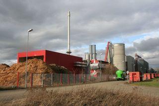 Ein Haufen Späne und keine Produktion: Das Pellets-Werk bei Orschweier steht still.