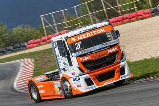 Gerd Körbers Truck auf der Rennstrecke