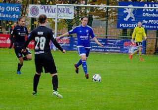 Die Spielerinnen des SC Sand waren gestern von Aufsteiger MSV Duisburg nicht aufzuhalten.