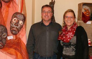 Silvia Boschert und Matthias Drescher im Narrenpalais.