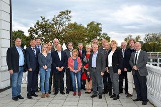 Landrat Frank Scherer (2.v.l.) empfing in Kehl den Deutsch-Französischen Ausschuss (DFA) im Rat der Gemeinden und Regionen Europas mit seinem Präsidenten Reinhard Sommer.