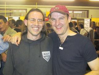 """Tommy Hertwig (l.) und Kon Chauvi-Frontman """"Kush"""" eröffneten 1997 das Festival in Urloffen – ein Bild aus dem Jahr 2000."""
