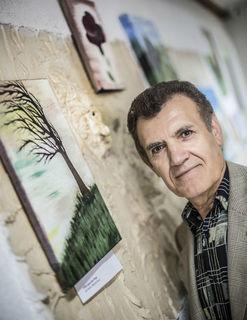 Mesut Aydogdus jüngste künstlerische Leidenschaft: die Malerei. Seine Gemälde sind noch bis Ende Juli im Restaurant Efem in Offenburg zu besichtigen.