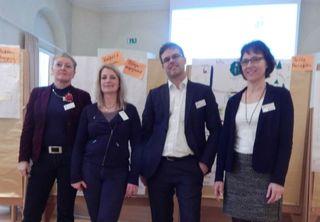 V.l.: Moderatorin Claudia Peschen, Ulrike Karl und Tobias de Haen (beide LGS Lahr GmbH), Martina Straub (Stadt Lahr).