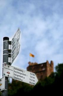 Hinweis auf Geroldsecker Burgpfad: Auch er wurde im vergangenen Jahr neu geschaffen.