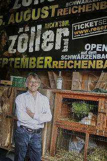 Rockmusiker trifft Landleben: Seit neun Jahren macht Jürgen Zöller Urlaub im Reichenbachtal und gibt dort alle zwei Jahre ein Open-Air-Konzert.