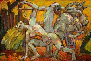"""Sighard Gille schuf 1989 sein Werk """"Die permanente Demonstration""""."""