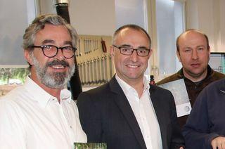 Designer Martin Reiss (links), Geschäftsführer Günter Lehmann und Uwe Lehmann.