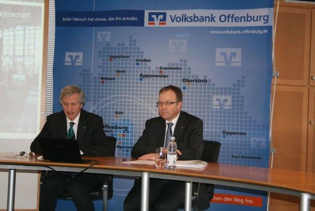 Die letzte gemeinsame Bilanzpressekonferenz: Vorstandsvorsitzender Richard Bruder (l.) geht in Ruhestand. Markus Dauber wird wohl sein Nachfolger.