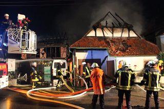 Erneut stand ein Ökonomiegebäude in Altenheim in Brand.
