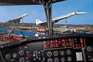 Die Concorde und die Tupolev TU-144 stehen auf dem Dach des Auto- und Technikmuseums.
