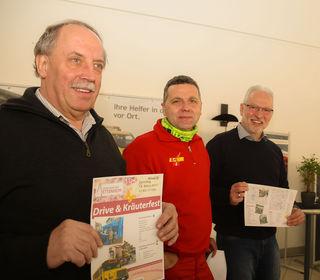 Karl Hog, Dieter Andlauer und Norbert Schneider stellten das Programm vor.