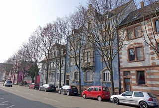 Auch in der Großherzog-Friedrich-Straße müssen Bäume für den Bau der Tramtrasse gefällt werden.