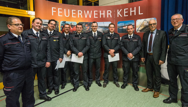Bei der Hauptversammlung der Kehler Feuerwehr wurden auch neue Dienstgrade verliehen.