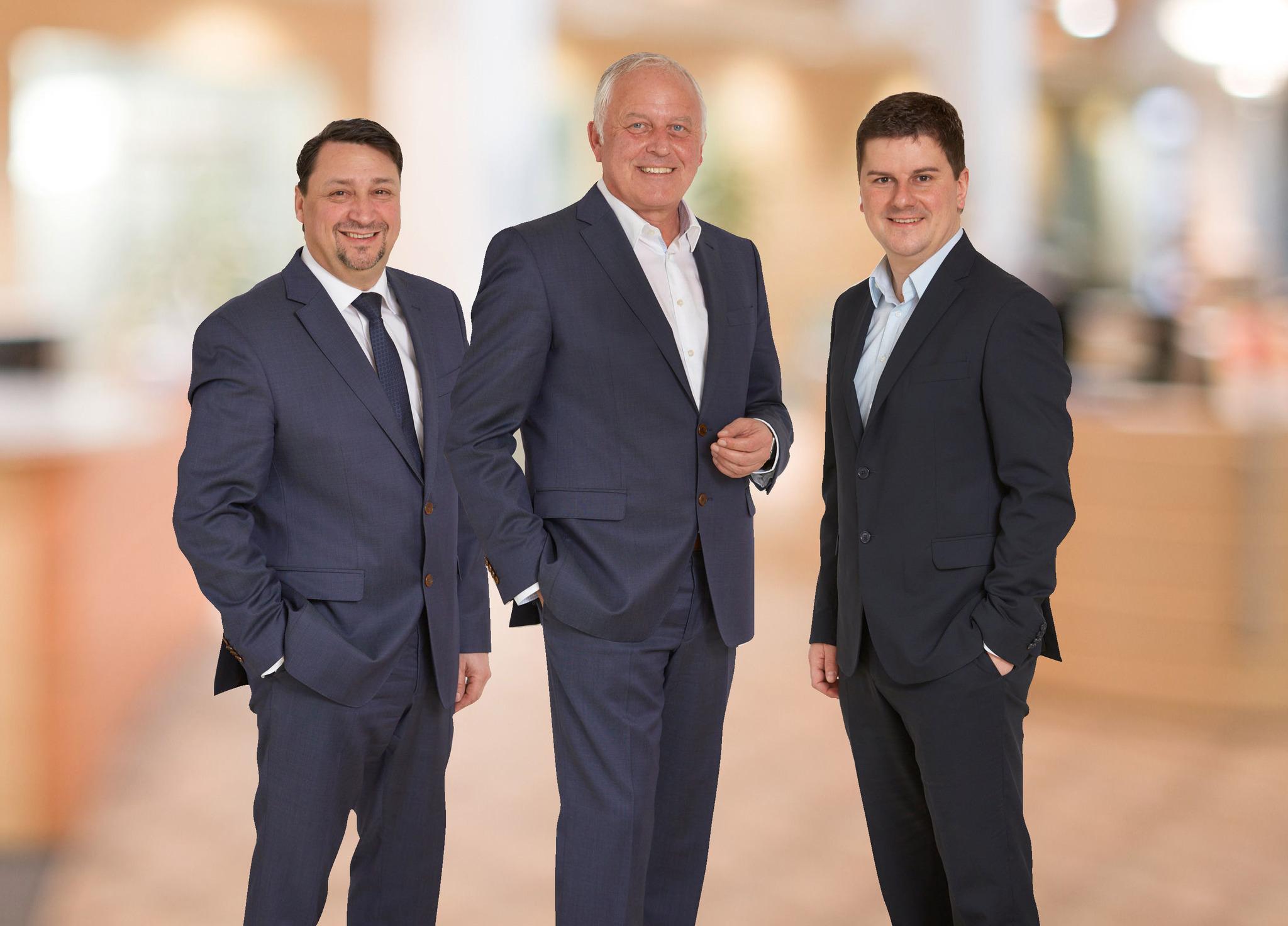 Der neue Vorstand der Volksbank Bühl: Marco Feit, Claus Preiss und Hans-Jörg Meier.