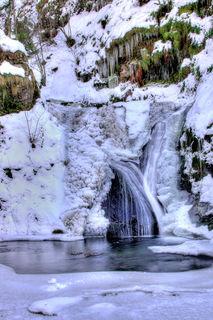 Allerheiligen: Ein Traum aus Schnee und Eis – die Allerheiligen-Wasserfälle.