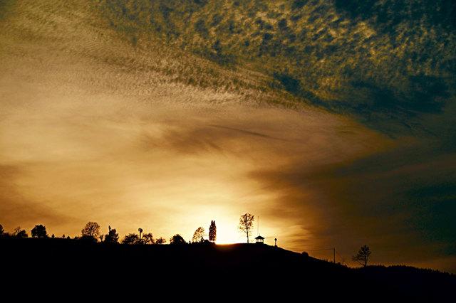Sonnenuntergang über Steinach