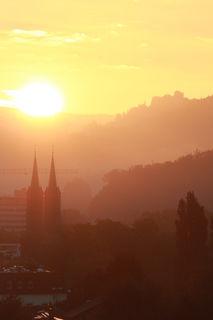 Sonnenaufgang über Lahr