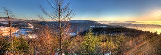 Panorama: Traumhafter Sonnenuntergang über der Ortenau.