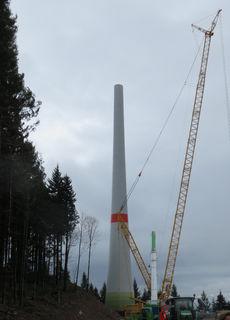 Arbeiten an der Windkraft