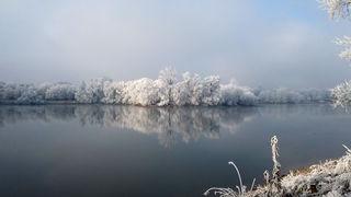 Eisiger Morgen am Gifiz