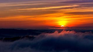 Von der Geroldseck bei Sonnenuntergang
