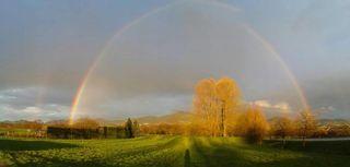 Regenbogen, Sasbach richtung Ottersweier.