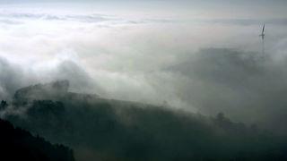 Über den Wolken, Blick von Hünersedel