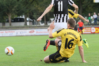 Mit viel Einsatz ging der SV Oberkirch in das Renchtalderby gegen den TuS Oppenau.