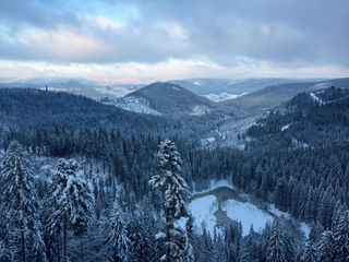 Winter über den Bergen