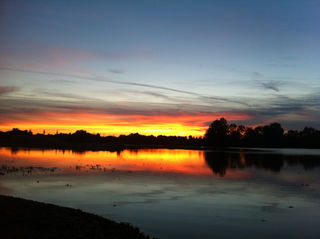 Stimmung bei Sonnenuntergang