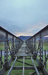 Gesperrter Steg über die Kinzig in Gengenbach