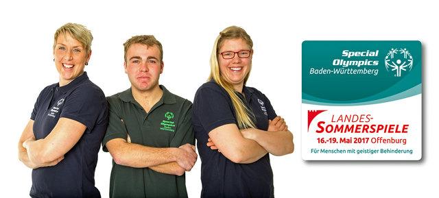 Christina Obergföll (links, mit zwei Teilnehmern) hat die Schirmherrschaft für die Special Olympics übernommen.
