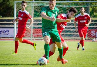 Kevin Sax erzielte in Pfullendorf beide Tore für den KFV.