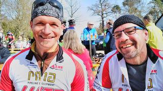 Thomas Endres (links) und Ralf Walter vom Radsport-Team Lutz.