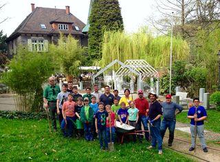 Teilnehmer der ehrenamtlichen Pflege- und Pflanzaktion im Kappelrodecker Zuckerbergpark