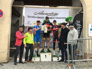 Jonas Tenbruck von den Racing-Students freut sich über den dritten Platz.