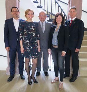 Die neue Vorstandschaft: Oberbürgermeister Klaus Muttach, Vorsitzende Susanne Scheck-Reitz, Wolfgang Springmann, Karthrin Gerber-Schaufler, Achim Frank (v. l.) – nicht auf dem Foto ist der stellvertretende Vorsitzende Erich Schönle.