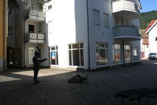 Das Bild zeigt das ehemalige Keilbach-Ladengeschäft am Hornberger Bischwiller-Platz.