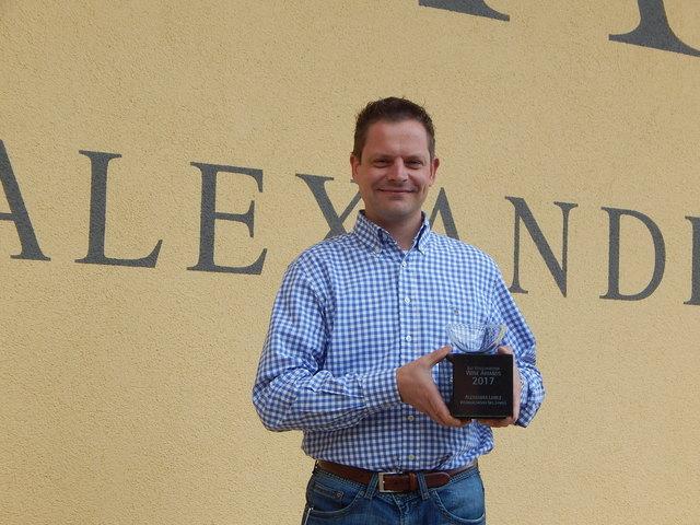 Alexander Laible aus Durbach-Ebersweier hat den Wine Award 2017 verliehen bekommen.
