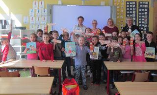 Das Vorleseteam der Lesewelt – Brigitte Schlenker, Beate Jäger, Myriam Nitsch und Elke Maier (v. l.) – wurde in der Falkenhausenschule in Kehl begrüßt.