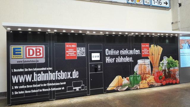Die erste Warenabholstation im Stuttgarter Hauptbahnhof