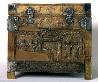 Die Capsella di Samagher mit der frühesten Darstellung der Petrusmemorie