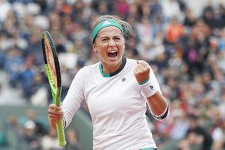 Die erst 20-jährige Jelena Ostapenko bejubelt den ersten Grand-Slam-Titel ihrer noch jungen Karriere.