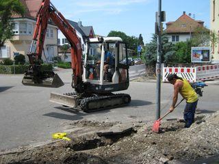 In Haslach, Schnellingen und Bollenbach wird wird fleißig für ein schnelles Internet gegraben.