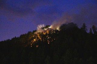 Am Montag brannte der Wald oberhalb der Zeller Keramik in Zell am Harmersbach.
