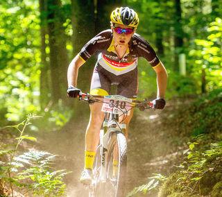 Voll konzentriert: Die Steinacherin Clarissa Mai gibt auch beim Marathon Vollgas.