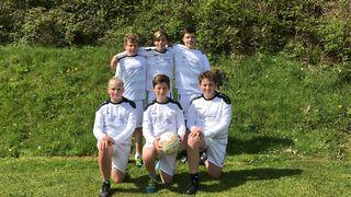 Im Bild von links: Elias Kruschka, Bastian Heinrich, Alexander Stegner, Johannes Gehrlein, Nick Leuthner und Nils Jedele